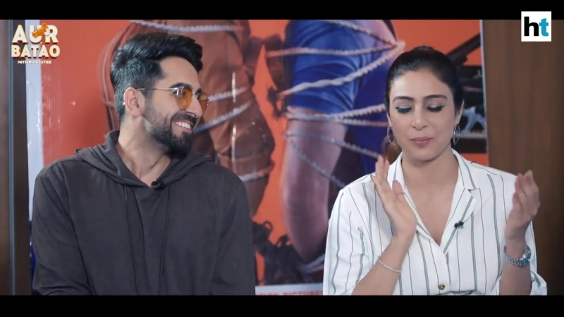 Ayushmann Khurrana makes Tabu blush __ ANDHADHUN INTERVIEW II __ AUR BATAO