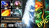 WTF CAN'T KILL Octarine Core Wraith King 2x Skeletons +35 Damage Counter PL Immortal Game WTF Dota 2
