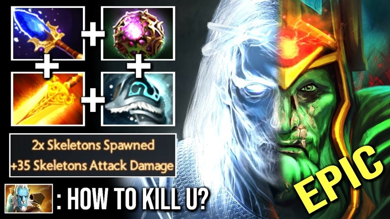 WTF CAN'T KILL Octarine Core Wraith King 2x Skeletons 35 Damage Counter PL Immortal Game WTF Dota 2
