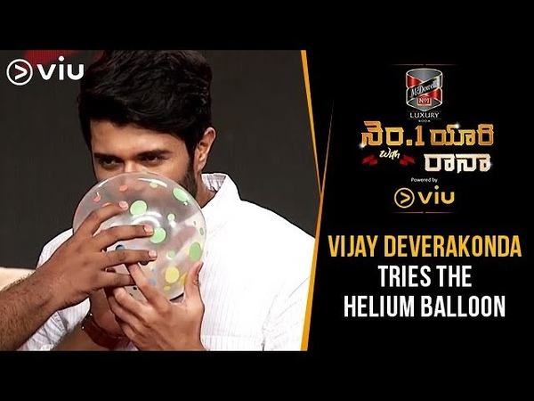 Vijay Devarakonda Tries The Helium Balloon | No 1 Yaari With Rana | Tharun Bhascker | Viu India