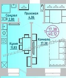 новостройка 1-комнатная проспект Ломоносова 31