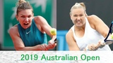 Simona Halep vs Kaia Kanepi 2019 Australian Open Highlights