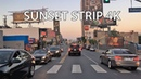 Driving Downtown - Sunset Strip 4K - Los Angeles USA