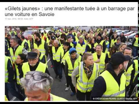 17 Novembre : Une Gilets Jaunes Tuée à un Barrage par une Voiture en Savoie