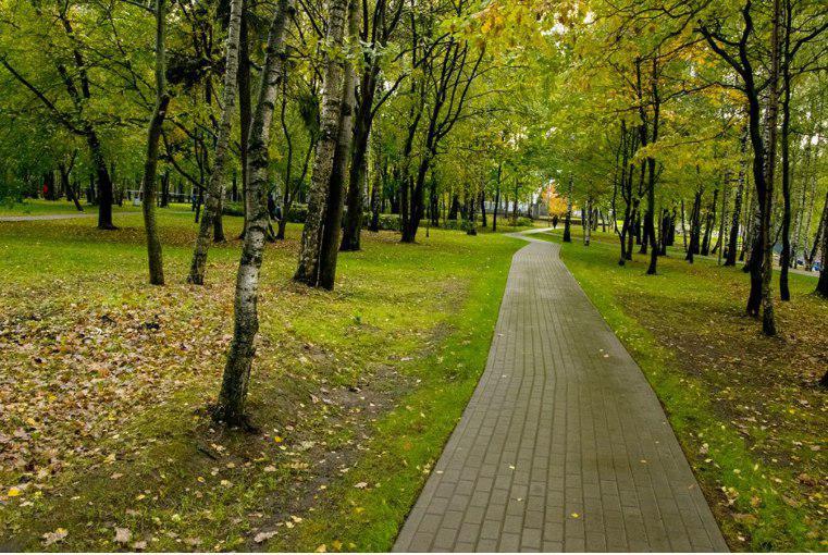 Завершилась реконструкция дорожек вдоль Большого пруда в Лианозовском парке