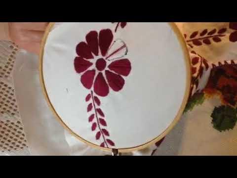 Como bordar una flor para las blusas