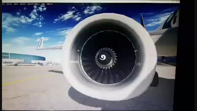 PMDG 737 NGX new engine textures by Chems Eddine