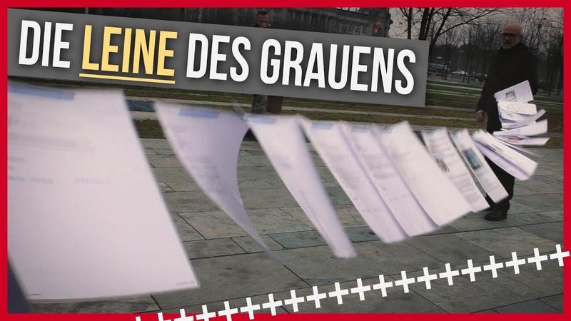 Flashmob vorm Kanzleramt - Die Leine des Grauens | AKTIVISMUS