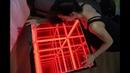 столик с подсветкой в виде куба бесконечности , infinity mirror