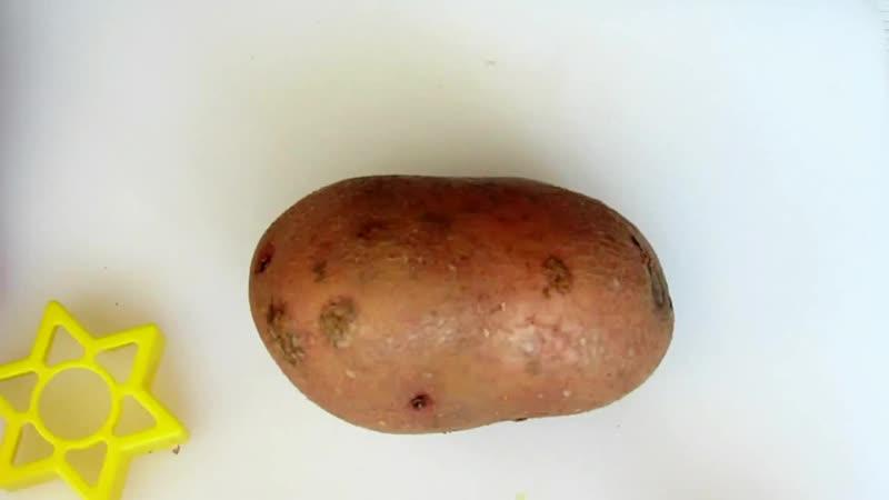 Как сделать печать из картошки How to make a stamp from potatoes