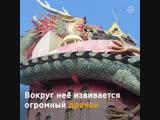 Буддийским храм в виде гигантского дракона - vk.com/p.obrazovanie