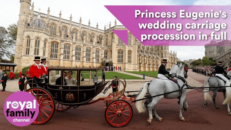 Princess Eugenies wedding carriage procession in full