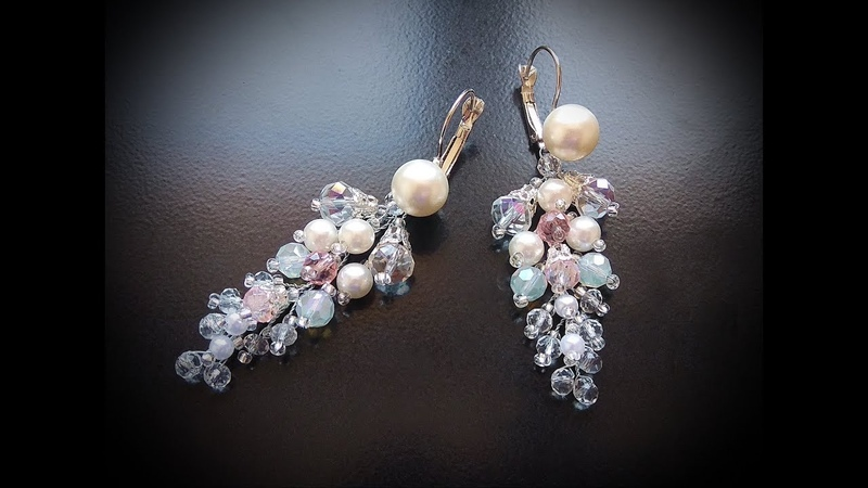 ✨TamireStudio✨DIY✨HOW TO MAKE BEAUTIFUL EARRINGS FROM PEARL BEADS AND JEWELRY WIRE OWN HANDS✨