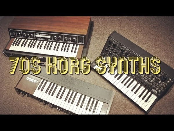 70s Korg Synths Making Music