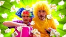 Vídeos chistosos para niños Jugamos con los payasos alegres Juegos infantiles y divertidos