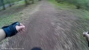 Катаюсь в лесу на уницикле. I ride in the forest on a unicycle.