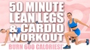 50 MINUTE LEAN LEGS AND CARDIO WORKOUT!🔥BURN 600 CALORIES!🔥with Sydney Cummings