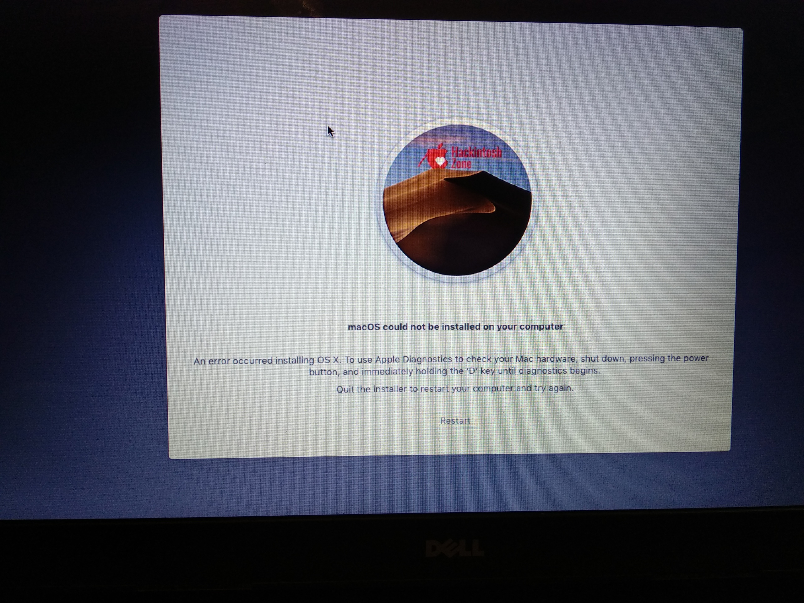 Installer error  - Niresh Mojave Help Forum - Hackintosh Zone