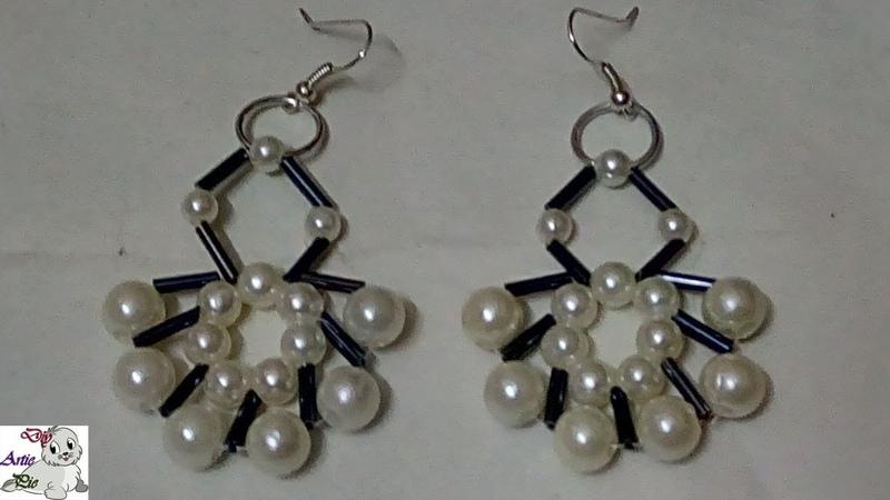 87 How to Make Pearl Beaded Bugle Earring || Diy || Jewellery Making