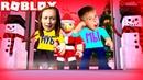 Страшный ЛИФТ на НОВЫЙ ГОД Роблокс Челлендж Мама против Рости Зимние Каникулы на Мы Играем