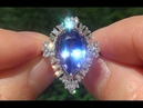 GIA Certified Near Flawless VVS1 Natural Tanzanite Diamond 14k White Gold Estate Ring - C833