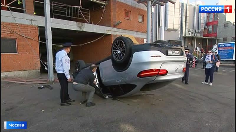 Водитель рухнувшего с парковки Мерседеса перепутал педали