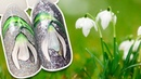 🌼 Подснежники на Блестящем Фоне 🌼 Цветочный Дизайн Ногтей для Весеннего Маникюра Рисунок Гель-лаком