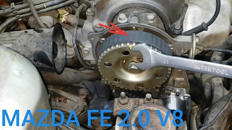 Mazda 626 FE 2 0 valve 8 замена помпы грм