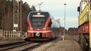 Штадлерский дизель-поезд 2318 на ст. Пярну-Грузовая / Stadler DMU 2318 at Pärnu-Kauba station