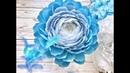 Цветок из гофро. бумаги.