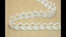 Ленточное кружево кайма вязание крючком Crochet Lace Braid Ribbon Tape Tutorial