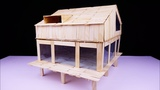 How to Make Popsicle Stick Modern House
