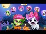 Забавная Игра Доброй Заботы - Китти Kiki Хэллоуин Наряды для кошечки и собачки Мультики для детей