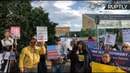 Supporters hold vigil outside the prison where Assange is being held