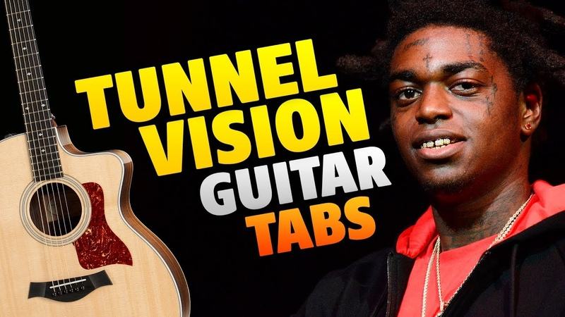 Kodak Black – Tunnel Vision (fingerstyle guitar cover with easy tabs and chords)