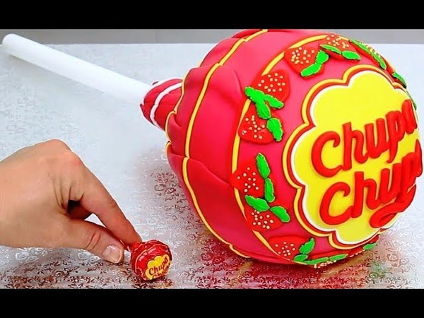 HUGE CHUPA CHUPS Cake with SURPRISE Inside by Cakes StepbyStep