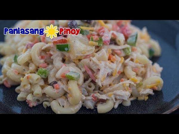Filipino Chicken Macaroni Salad Panlasang Pinoy