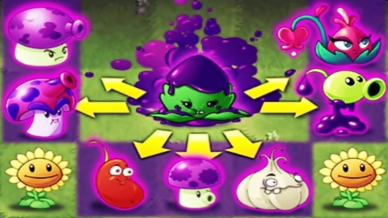Plants vs Zombies 2 BattleZ Place Ail mint to Boost Poison Plants and Fungi
