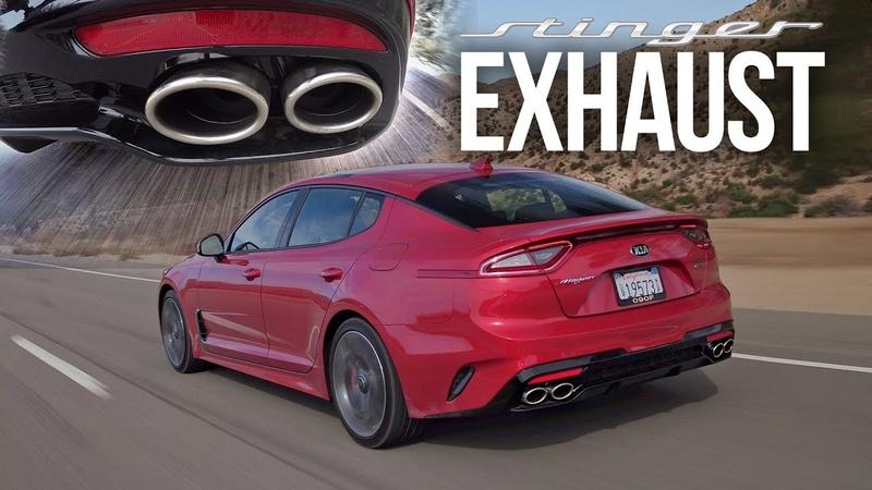 2018 Kia Stinger GT Exhaust SEMA Stinger GT Borla Exhaust Pure Sound