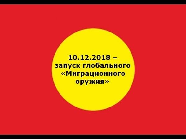 10.12.2018 – запуск глобального «Миграционного оружия»