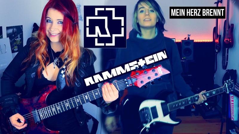 RAMMSTEIN - Mein Herz Brennt [GUITAR COVER] with SOLO | Jassy J VanValia Boese Fuchs