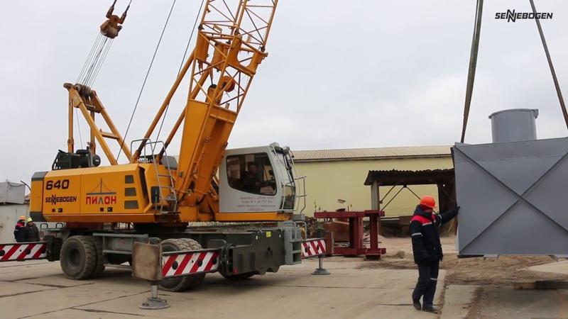 SENNEBOGEN 640 M - Logistics at factory yard - Russia