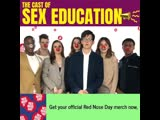the beautiful cast of @sexeducation for Red nose day