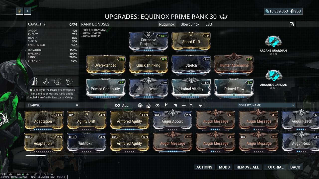 Equinox Prime Builds? - Players helping Players - Warframe