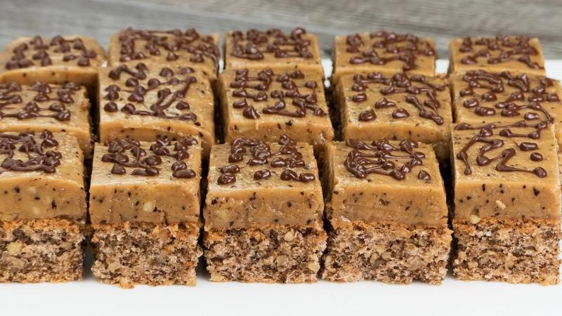 Десерт на все случаи жизни! Ореховое пирожное с кофе - вкуснее чем в кафе! | Appetitno.TV