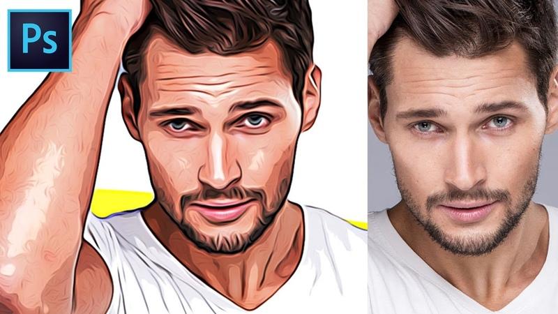 How to Turn Photos into Cartoon Effect Photoshop Tutorial