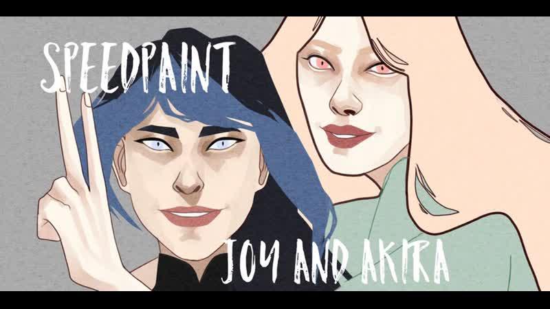 Speedpaint   Akira and Joy