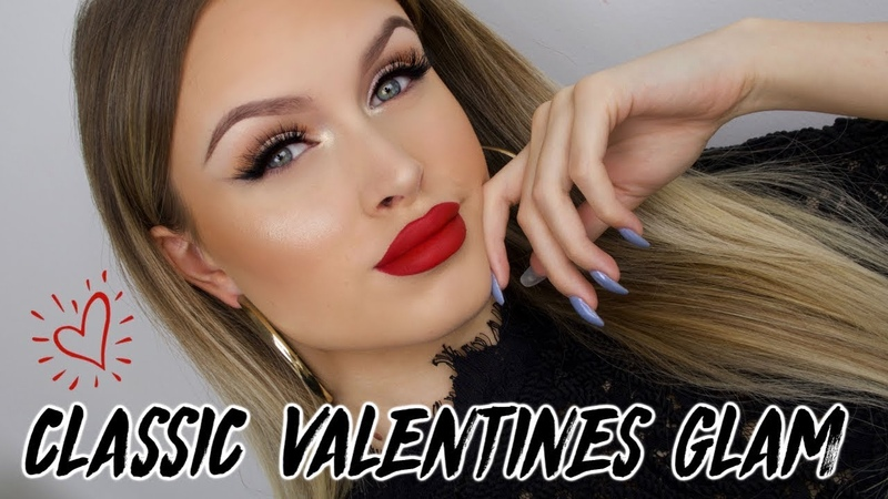SOFT SMOKEY EYELINER CLASSIC RED LIPS ♡ VALENTINES DAY MAKEUP TUTORIAL 2019