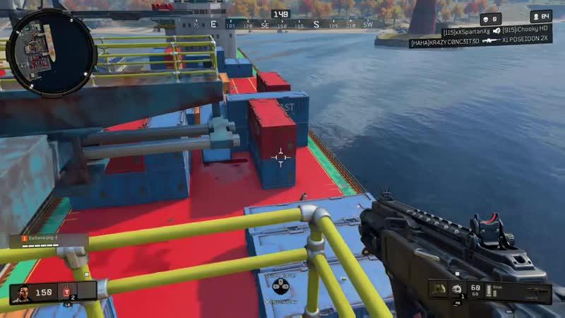 Check the cranes upon landing cargo docks. Black Ops 4