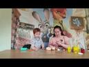 Играем с набором пластилина Play Doh мистер Зубастик/Плей До доктор Данечка